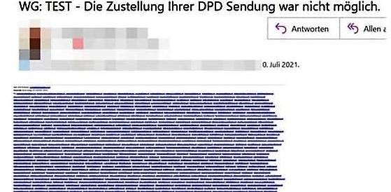 Phishing-Attacke mit offenem Mailverteiler